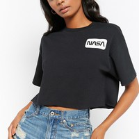 NASA Graphic Semi-Cropped Tee