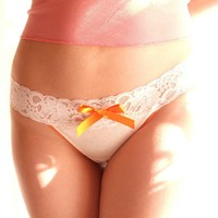 Organic Cotton Nadina Thong - glowing orange