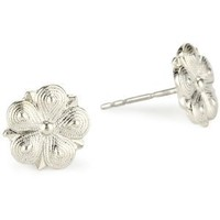 1928 Jewelry Vintage Silver Star Flower Stud Earrings