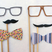 Stylish on a Stick Photo Prop Set of 6 by livelaughlovelots