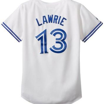 Mlb Toronto Blue Jays Women's Brett Lawrie 13 Replica Jersey White