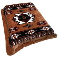 Wyndham HouseTM Brown Native American Print Blanket