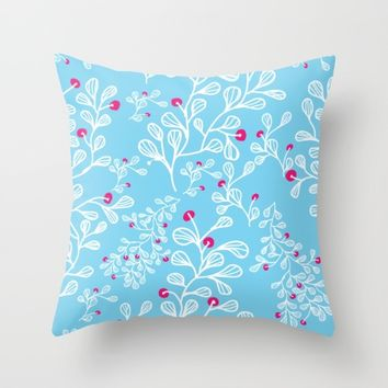 Petite mon amour sky Throw Pillow by Vicky Theologidou