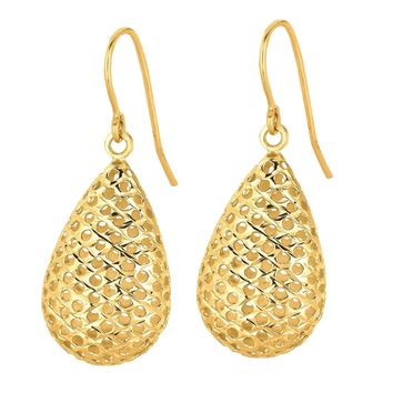 14K Yellow Gold Tear Drop Earrings
