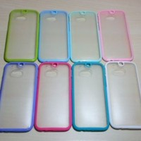 For HTC One M8 Silicone Bumper & Frosted Plastic Case