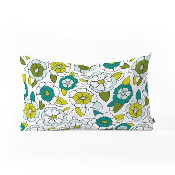Heather Dutton Tropical Bloom Oblong Throw Pillow