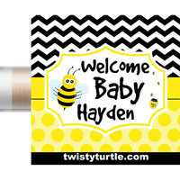 Bumble Bee Baby Shower Lip Balm | Bee Baby Shower | Girl Baby Shower | Custom Chapstick | Boy Baby Shower Favors | Gender Reveal Party Ideas