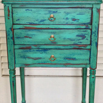 Shabby Chic Vintage Nightstand/Side Table