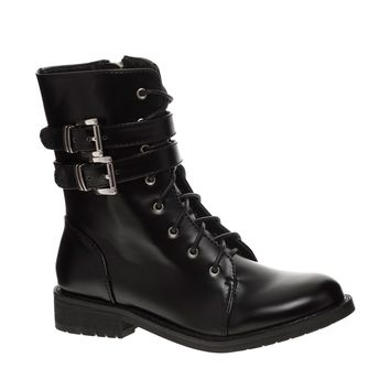 Shellys London Misska Strap Lace Up Ankle Boots