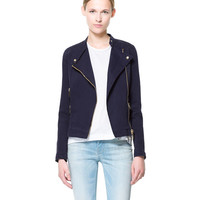 DOUBLE BREASTED JACKET WITH ZIPS - Blazers - Woman | ZARA United States