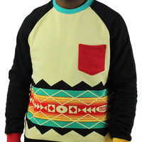 Moss New York Pinata Aztec Men's Crewneck Fleece Sweatshirt