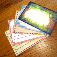 Animal Crossing Stationery Notecards - Worldly Set, 10 cards per set