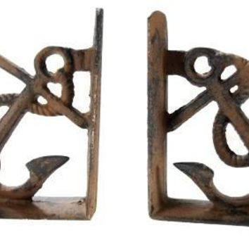 Cast Iron Anchor Bookends Nautical Decor New Vintage beach island surf