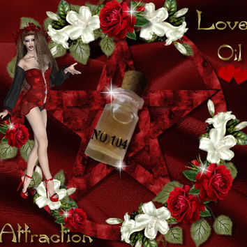 No 104 attraction oil, magic oil, pagan, wiccan, healthy relationships, greek ancient magic, Hoodoo,  Voodoo, Witchcraft, witch
