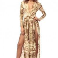 Light Brown Gold and Dressy Palazzo Jumpsuit @ Cicihot sexy dresses,sexy dress,prom dress,summer dress,spring dress,prom gowns,teens dresses,sexy party wear,ball dresses