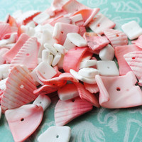 wholesale seashell chips 150 pieces pink shell chips white shell chips wholesale seashell pink beads wedding girl birthday invitations