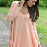 Worth The Wait Peach Tunic