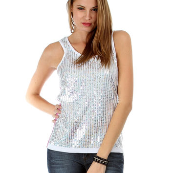 LILAC SEQUIN THERMAL TANK