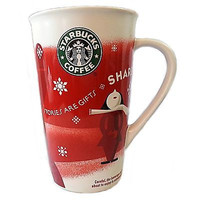 Starbucks Coffee Mug Cup Stories Are Gifts 16oz Red Grande 2010 Holiday k121