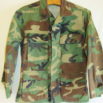 Vintage US Military Camo Army Jacket