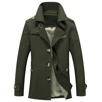 Men Jacket Coat Long Section Fashion Trench Coat Jaqueta Male Veste Homme Brand Casual Fit Overcoat Jacket Outerwear