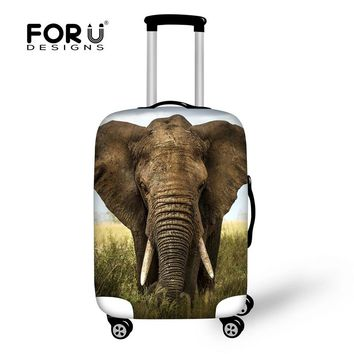 """FORUDESIGNS Animal 3D Printing Luggage Protective Cover Apply to 18""""-30"""" Case Elephant Trunk Cases Waterproof Travel Accessories"""