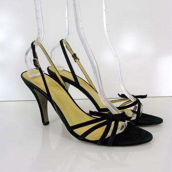 J Crew 'Lucie' Made in Italy Delicate Strappy d'Orsay Heeled Sandals 8.5