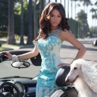 modeled by Janel Parrish from Camille La Vie and Group USA
