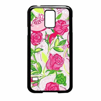 Pretty red roses Lilly pulitzer Samsung Galaxy S5 Case