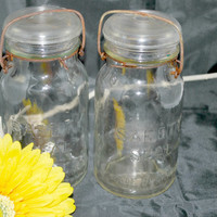 Glass Lid Storage Containers , Canada Seal Canning Jar Quart