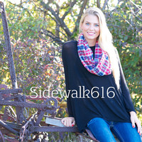 Red and Blue Plaid Scarf