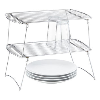Large Chrome Wire Stackable Shelf