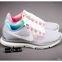NIKE AIR ZOOM PEGASUS 34 Lunar 34 Generation Fashion Joker Running Shoes F-A-FJGJXMY grey