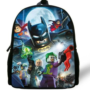 12-inch Mochila Batman Backpack Children School Bags Boys Cartoon Kids Backpack School Batman Bag Mochila Escolar Menino