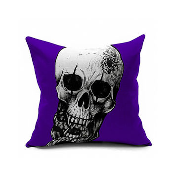 Cotton Flax Pillow Cushion Cover Halloween    WS097
