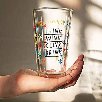 ADAMJK X UO Clink Wink Pint Glass- Multi One