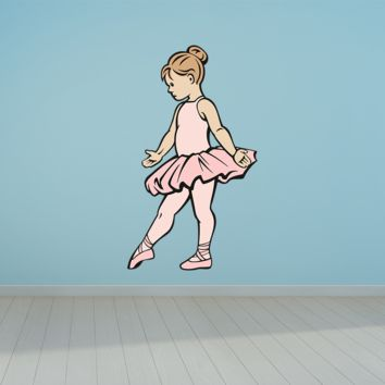 Ballet Girl Slippers Pointe Shoes Dancer Wall Art Decal Sticker