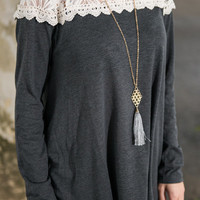 Flaunt your Style Top, Charcoal