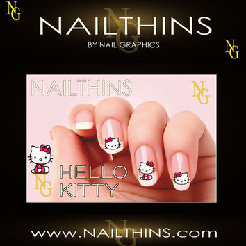 20 HELLO KITTY Design Nail Art  nail decal nail design not water slide decal