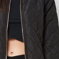 Kendall and Kylie Quilted Longline Bomber Jacket at PacSun.com