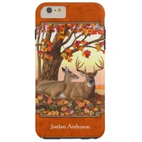 Whitetail Deer Maple Tree Autumn Orange Tough iPhone 6 Plus Case