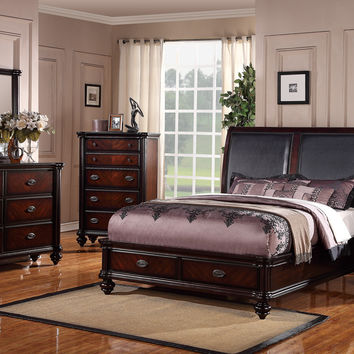 Poundex 4pc Bedroom Set