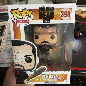 Exclusive Funko pop Official Horror Movies: Walking Dead - Negan Bloody With Lucille Vinyl Action Figure Collectible Model Toy
