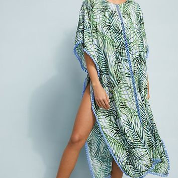 Red Carter Palm Party Caftan