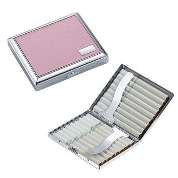 Visol India Pink Leatherette Double Sided Cigarette Case