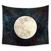 Society6 The Flower Of Life Moon 2 Wall Tapestry