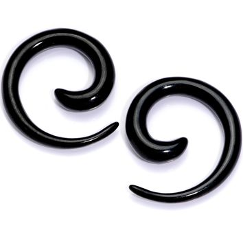 6 Gauge Black Anodized Titanium Micro Spiral Taper Set