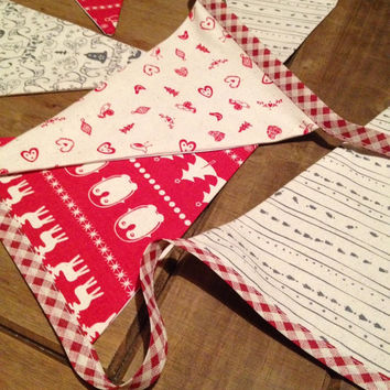 Christmas bunting~ Christmas decorations~ decorative bunting~ scandi~ scandinavian~ wall decor~ wall hanging~ xmas bunting
