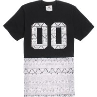 On The Byas Wallace Pieced Crew T-Shirt - Mens Tee - Black -