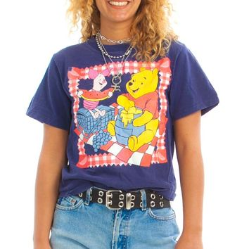 Vintage 90's Winnie the Pooh and Piglet Too Picnic Tee - XS/S